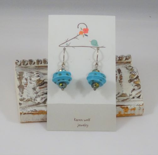 Artist Glass Silverfill Earrings