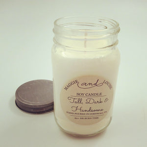 Tall Dark & Handsome Soy Candle by Maggie and Louise