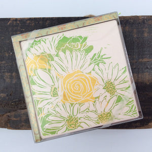 Daisy Art Coasters - Set of 4