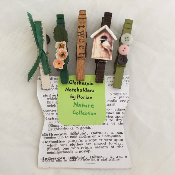 Nature Clothespin Noteholders
