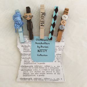 Kitty Clothespin Noteholders