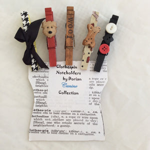 Canine Clothespin Noteholders