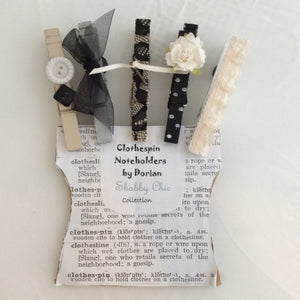 Shabby Chic Clothespin Noteholders