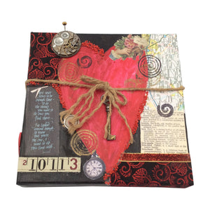 A True Heart Fabric Collage