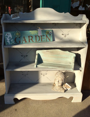 JC Wooden Paris Grey Bookshelf