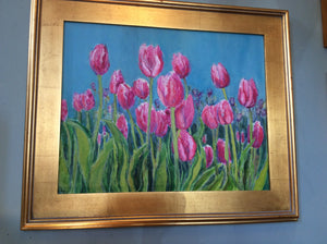 Tulip Patch by Karen Wolf (Framed Painting)