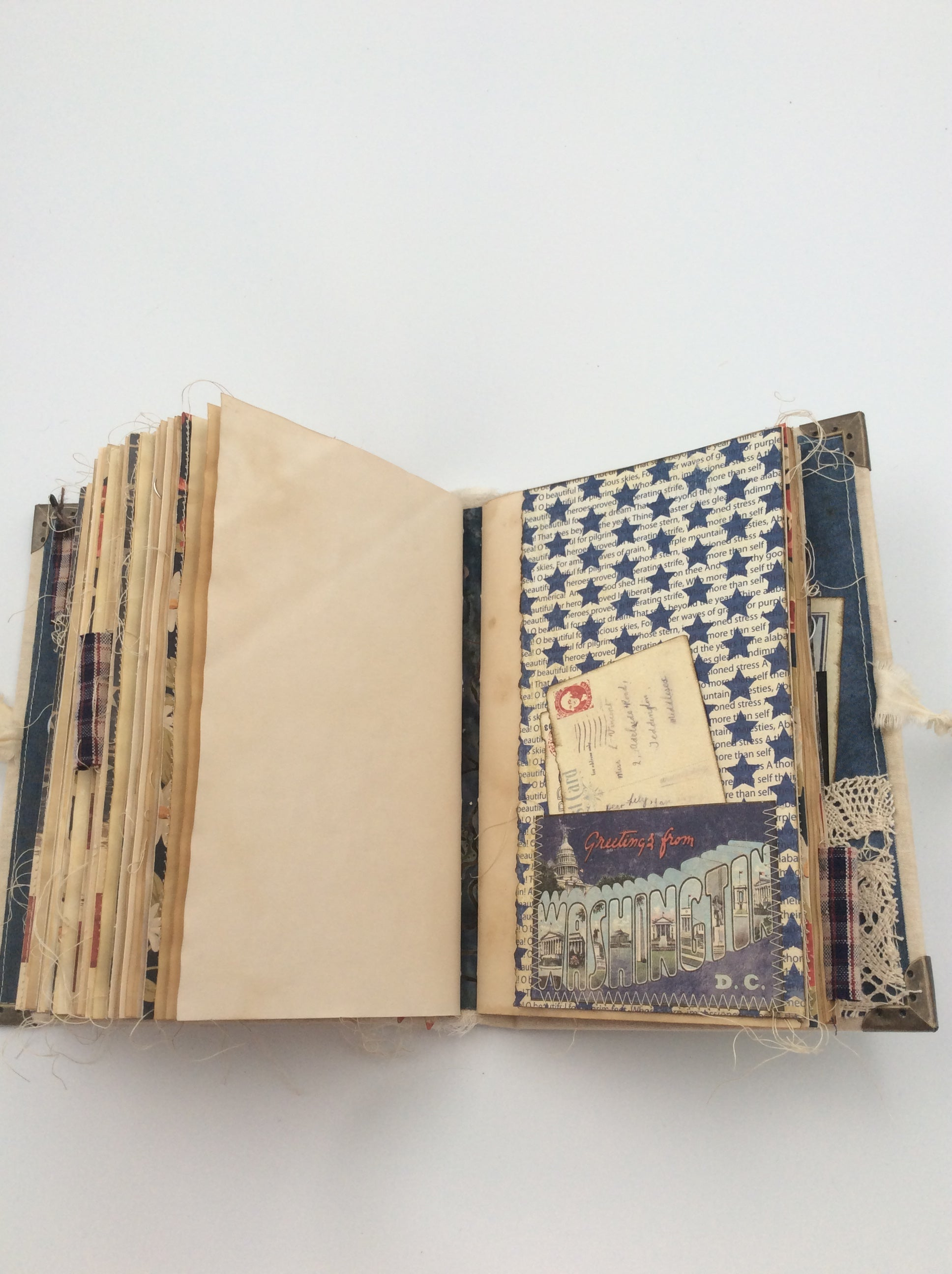 America Journal - Large Fabric Covered