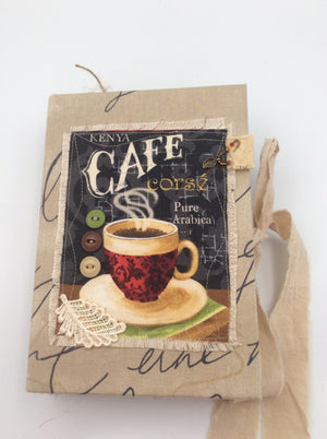 Coffee Journal - Large Fabric Covered