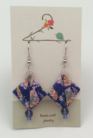 Origami Folded Paper Earrings