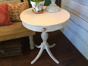 Round Accent Table with Drawer - Antoinette