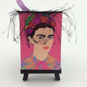 """Frida"" Mini Canvas and Easel"
