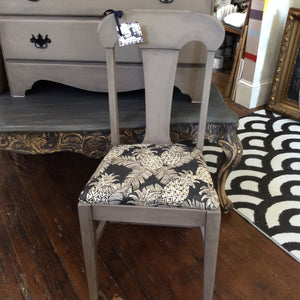 Coco Chair with Black Pineapple Fabric Seat