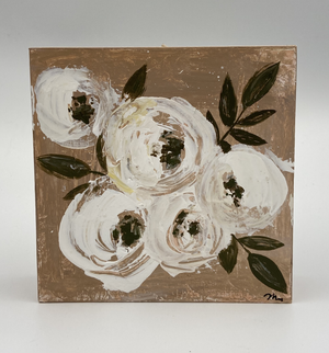 Tan Wood Sign - Roses