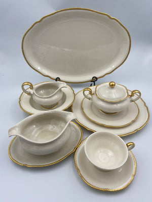 Castleton China Sovereign Pattern 50 Piece Dinnerware Set