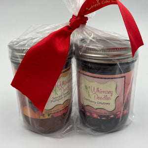 Whimsey Doodles - Spiced Pecan Pumpkin Butter & Cranberry Chutney Set