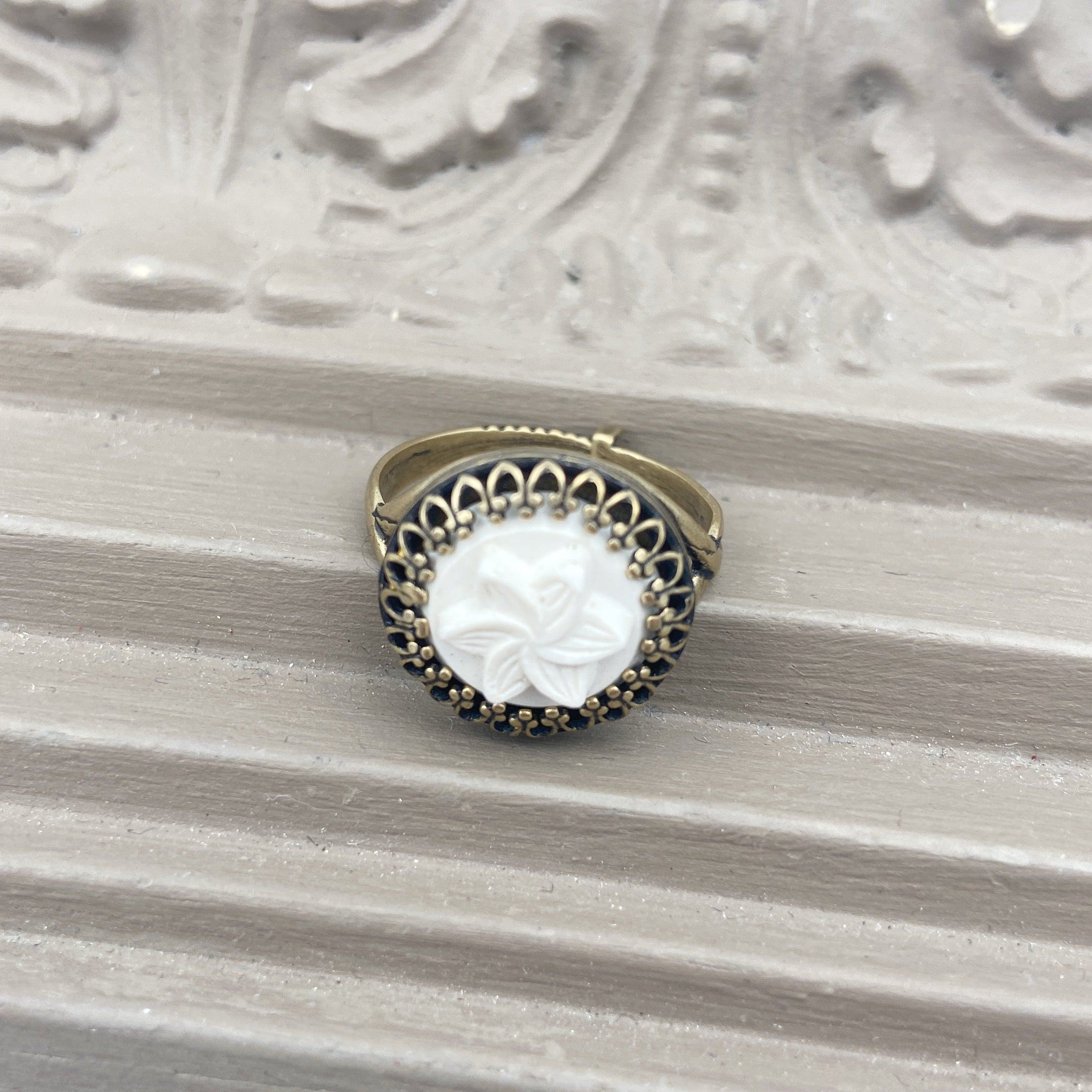 Flower Button Ring