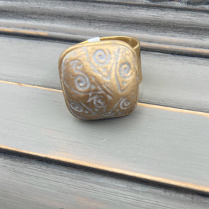 Gold Clay Ring