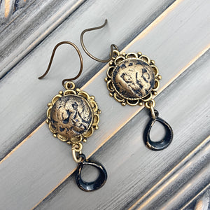 Gold Clay Drop Earrings