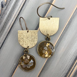 Gold U Shape Earrings