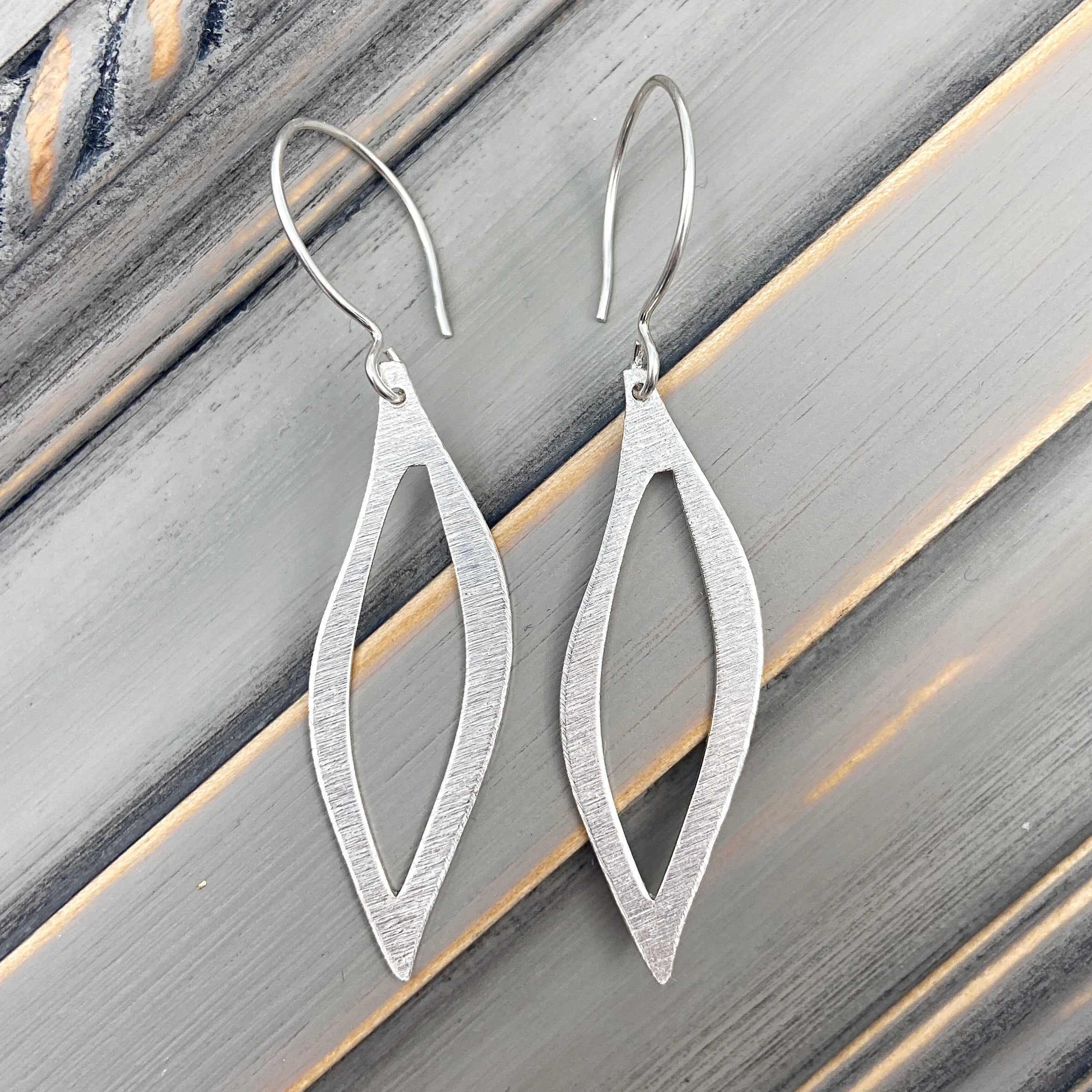 Silver Wendi Earrings with Sterling Silver Wire