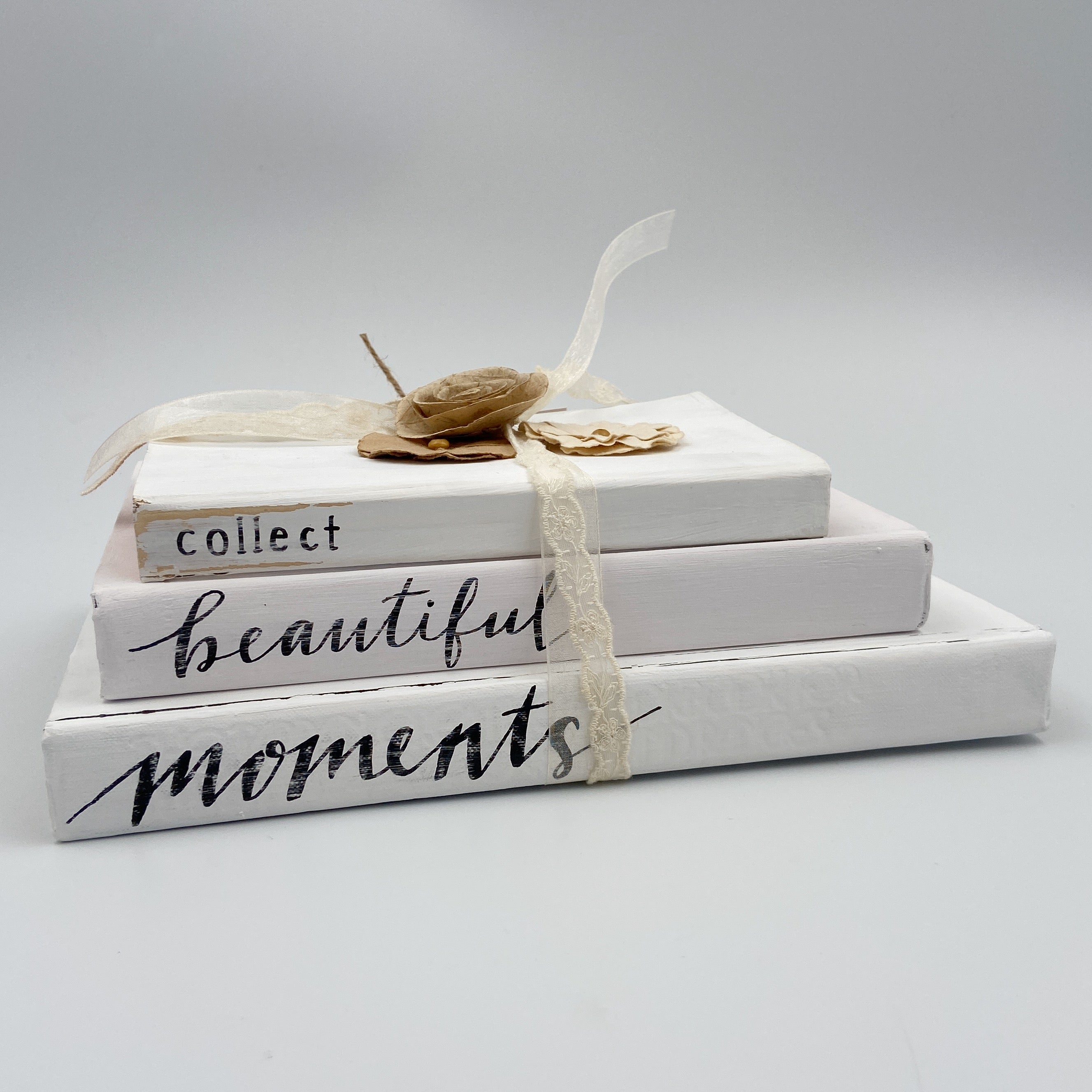 White with Flowers Book Set - Collect Beautiful Moments