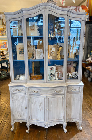 French Linen China Cabinet