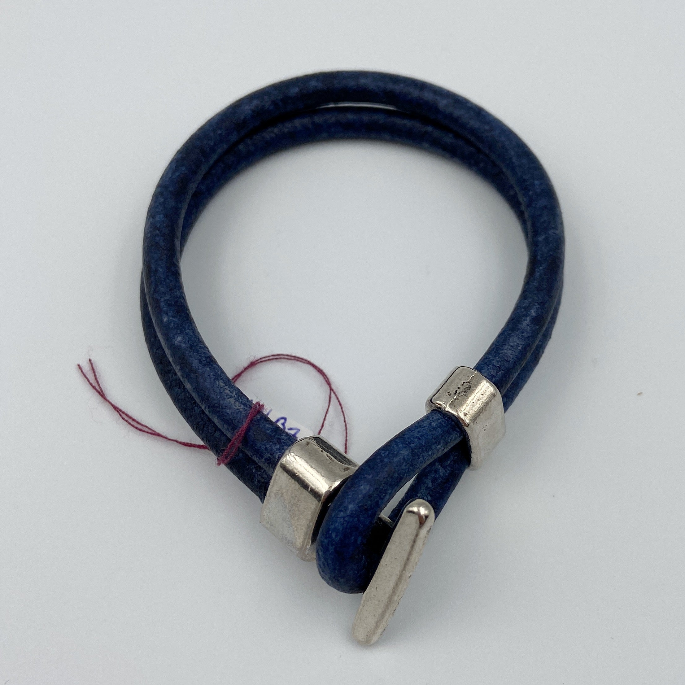 Multi Loop Leather Bracelet with Stainless Steel Loop Clasp