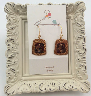 Copper & Bronze Riveted Earrings