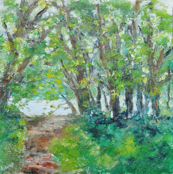 Lakeside Path by Karen Wolf (Original Framed Art)