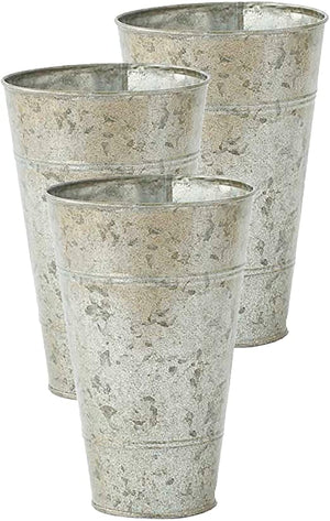 "KAK 8"" Galvanized Metal French Floral Bucket"