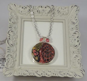 Copy of Polymer Clay, Glitter and Resin Pendant Necklace
