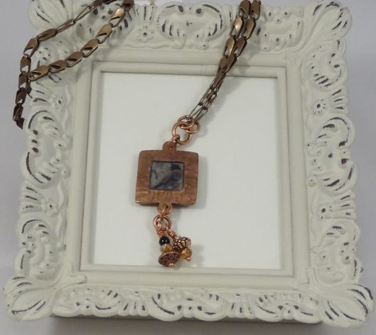 Copper Bird Pendant Necklace