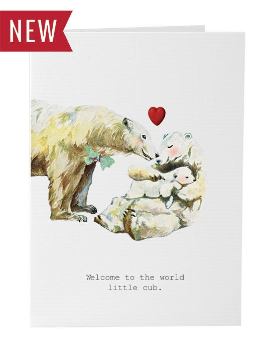 TokyoMilk Card - Welcome to the World Little Cub