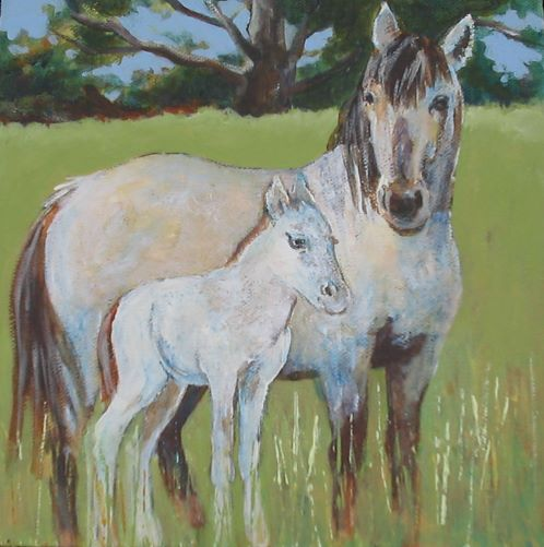 Proud Mama by Karen Wolf (Original Framed Art)