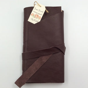 Brown Leather Journal with Wrap Closure
