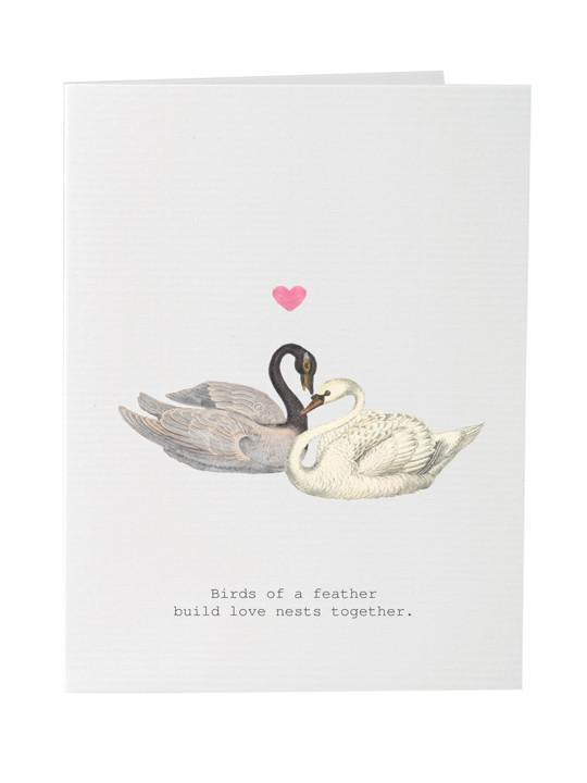 TokyoMilk Card - Birds of a Feather (Swans)