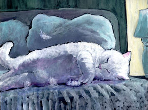 Angel Asleep by Karen Wolf (Art Print)