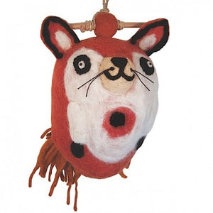 dZi Fox Felted Birdhouse
