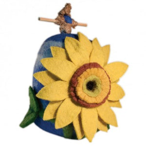 dZi Sunflower Felted Birdhouse