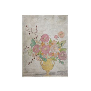 "Decorator Paper w/ Flowers in Yellow Vase 36""L x 48""H DF0978"