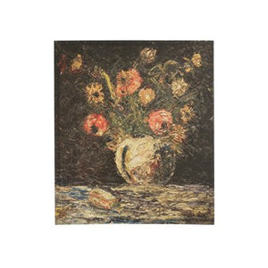 Canvas Wall Decor w/ Vintage Reproduction Flowers in Vase  DF2835