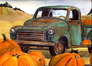 Green Truck by Karen Wolf (Art Print)