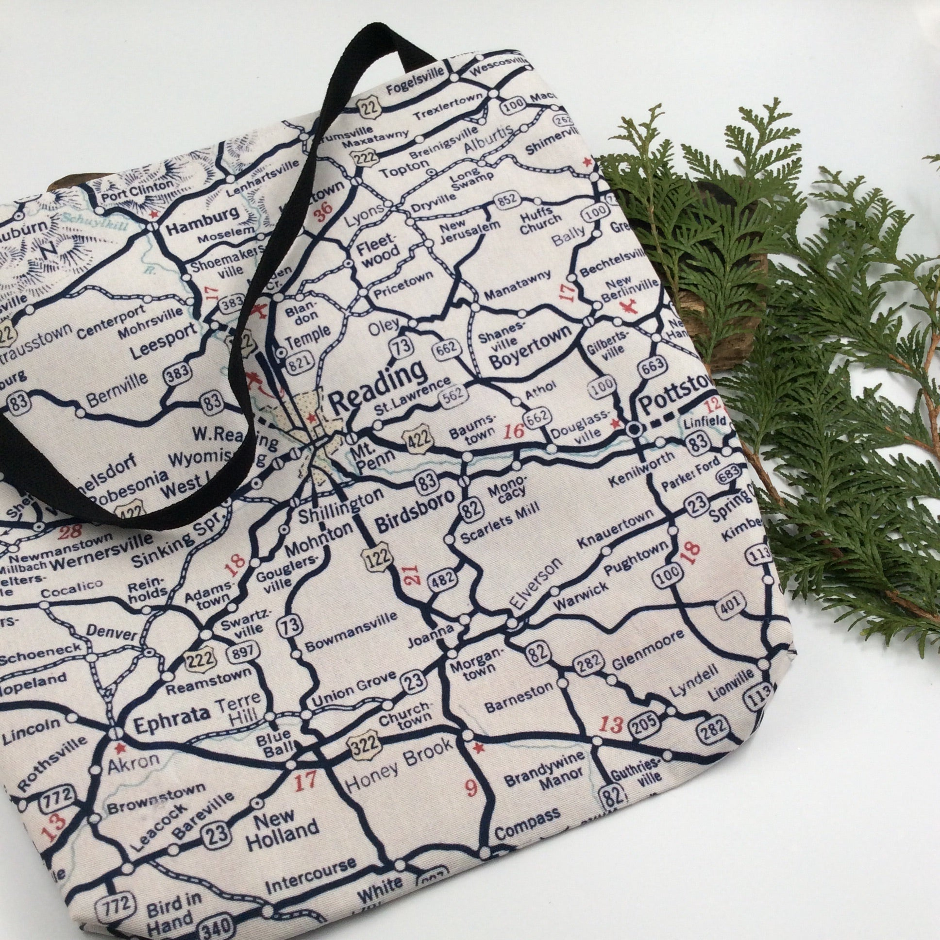 Custom Reading Map Tote Bag