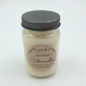 Citronella Soy Candle by Maggie and Louise