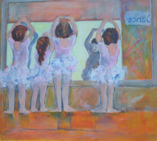 Tiny Dancers by Karen Wolf (Original Framed Art)