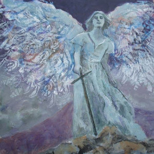 Unfolding of Wings by Karen Wolf (Framed Painting)