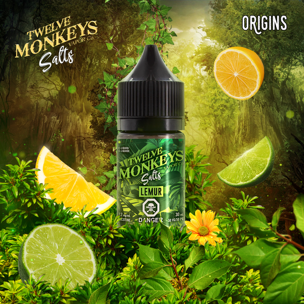 Lemur Nic Salts by Twelve Monkeys 30ML