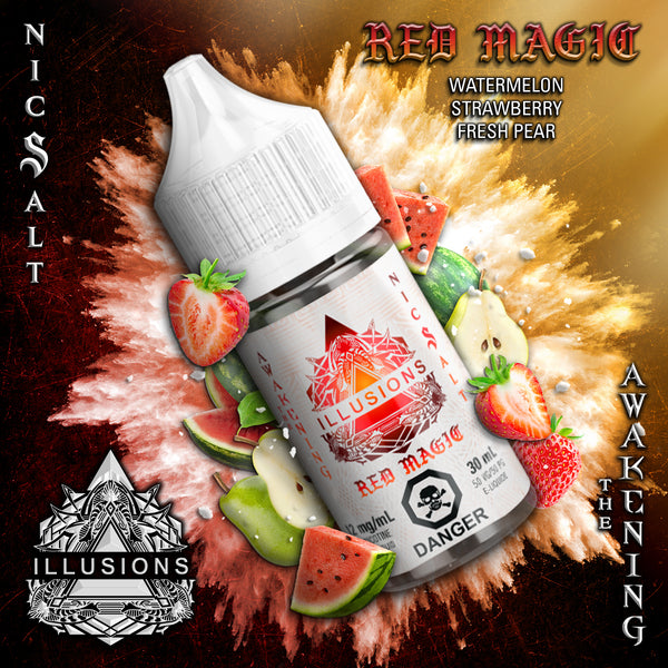 Red Magic Salt Nic by Illusions Vapor 30ML