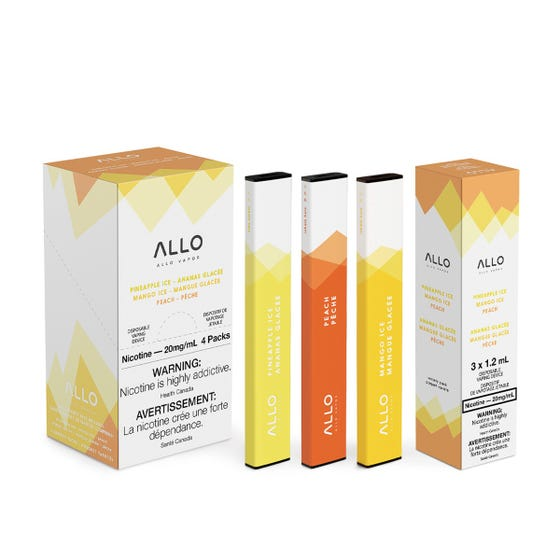 Allo Disposable - Starter Trio (Peach, Pineapple Ice, Mango Ice) 20mg 3pc