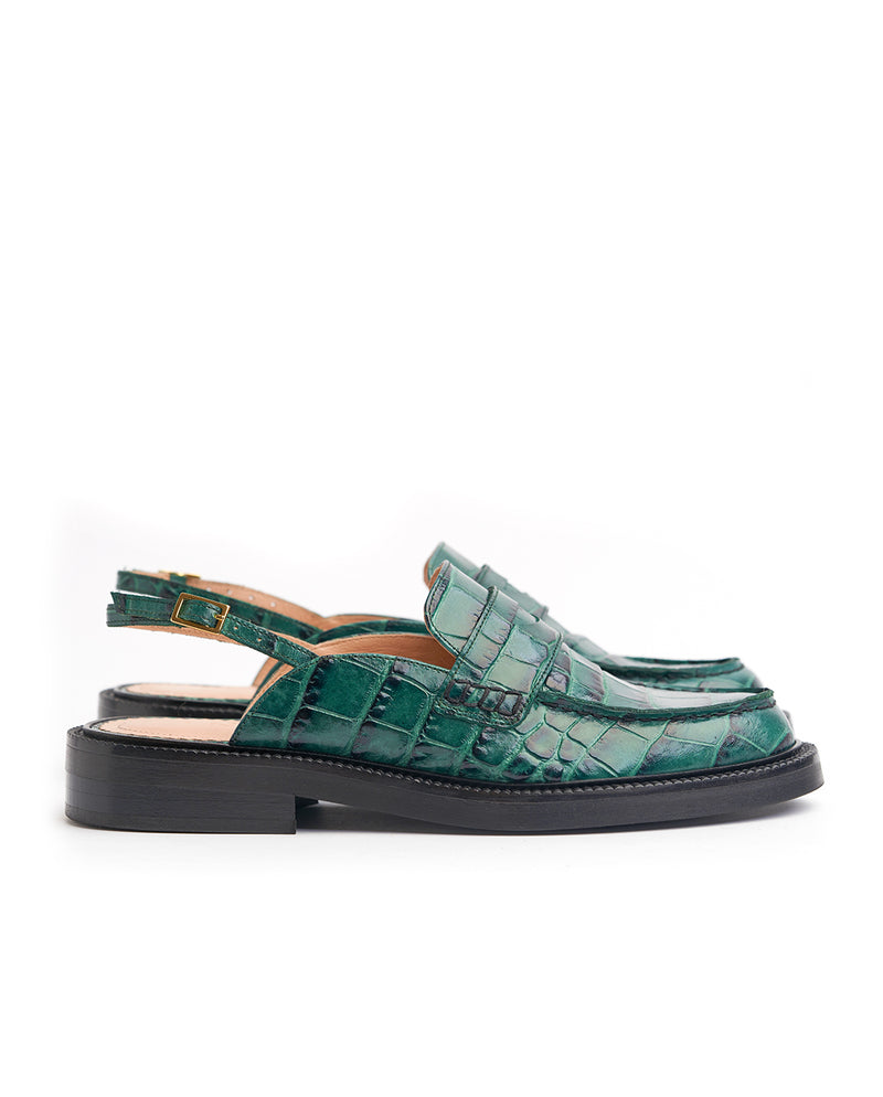 Ive Green Croco loafers - I N C H 2